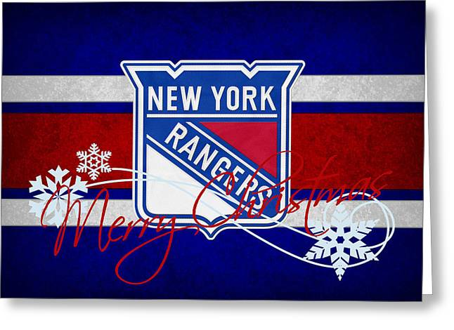 Ranger Greeting Cards - New York Rangers Greeting Card by Joe Hamilton
