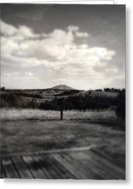 Scenic Farm Greeting Cards - New Zealand Greeting Card by Les Cunliffe