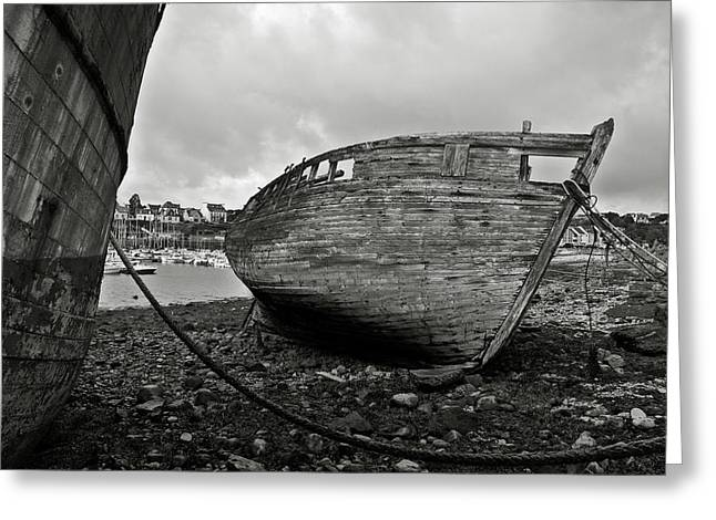 Algae Greeting Cards - Old abandoned ships Greeting Card by RicardMN Photography