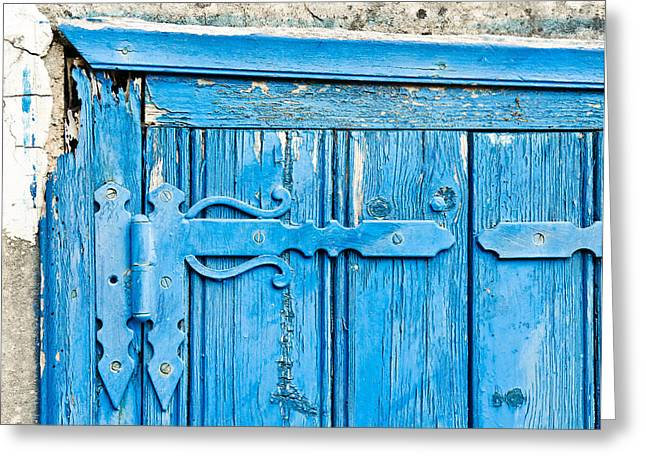 Old Relics Greeting Cards - Old door  Greeting Card by Tom Gowanlock