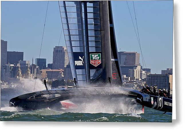 Oracle San Francisco Greeting Card by Steven Lapkin