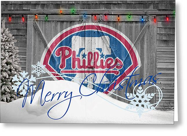 Philly Greeting Cards - Philadelphia Phillies Greeting Card by Joe Hamilton