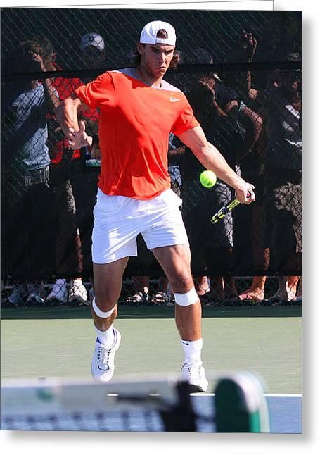Nadal Greeting Cards - Rafael Nadal Greeting Card by James Marvin Phelps