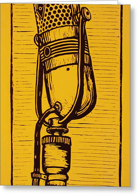 Lino Greeting Cards - Rca 77 Greeting Card by William Cauthern