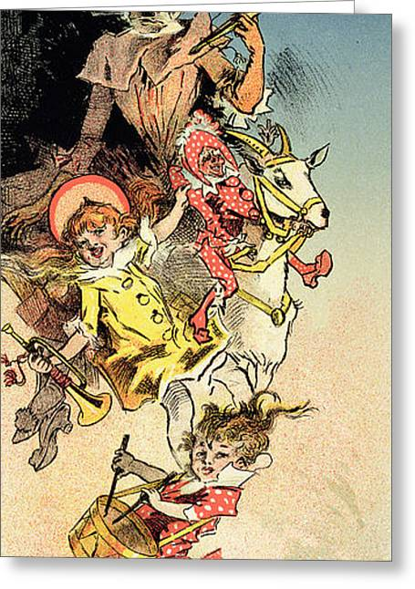 Childs Play Greeting Cards - Reproduction Of A Poster Advertising Greeting Card by Jules Cheret