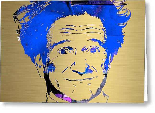 Movies Greeting Cards - Robin Williams Art Greeting Card by Marvin Blaine