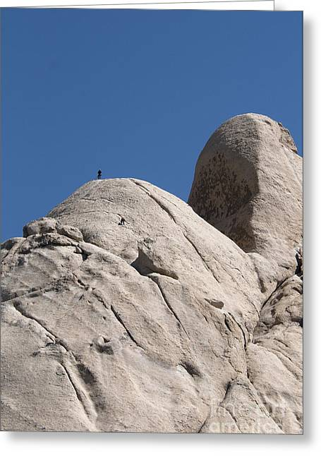 Californian Greeting Cards - Rock Climbers, Joshua Tree Np Greeting Card by Mark Newman