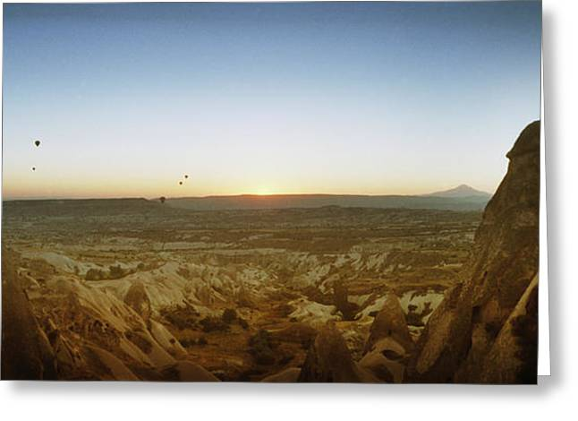 Anatolia Greeting Cards - Rock Formations On A Landscape Greeting Card by Panoramic Images