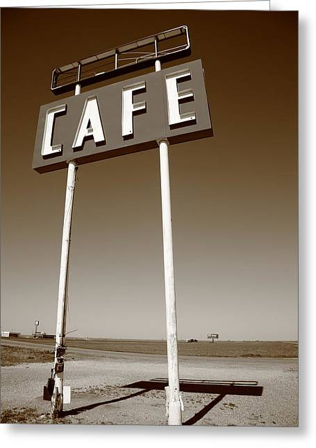 West Tx Greeting Cards - Route 66 Cafe Greeting Card by Frank Romeo