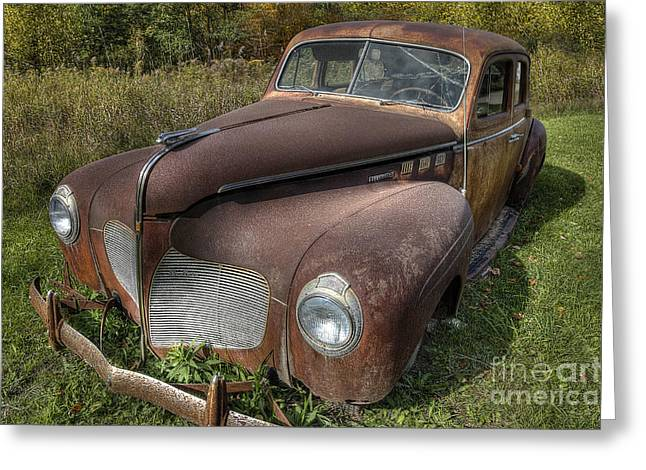 Desoto Car Greeting Cards - Rusty DeSoto Greeting Card by Twenty Two North Photography