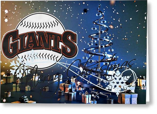 Giant Greeting Cards - San Francisco Giants Greeting Card by Joe Hamilton