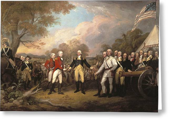 Continental Army Victory Greeting Cards - Saratoga: Surrender, 1777 Greeting Card by Granger