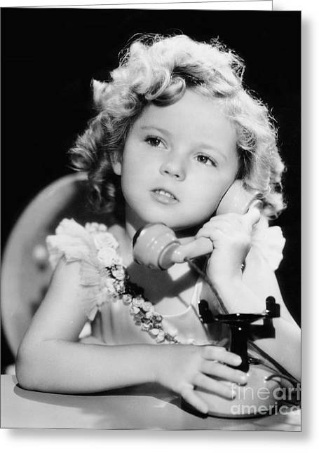 Actor Greeting Cards - Shirley Temple Greeting Card by MMG Archive Prints