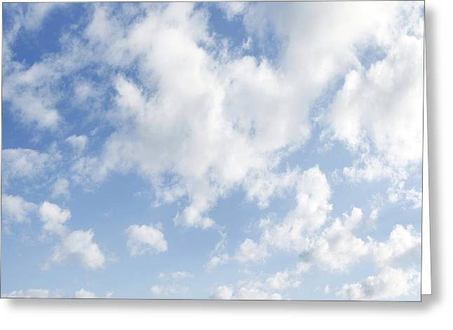 Natural White Photographs Greeting Cards - Sky Greeting Card by Les Cunliffe