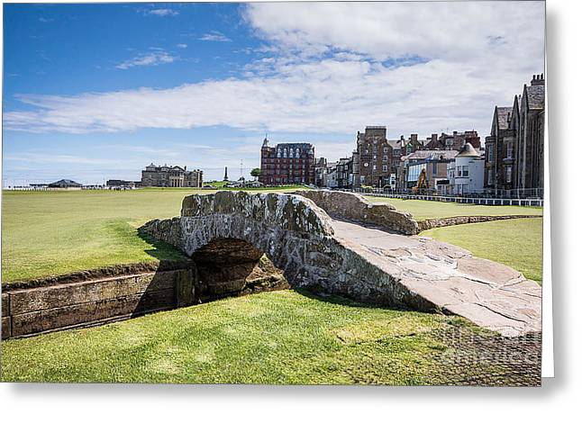 Brdige Greeting Cards - St Andrews 18 Hole Greeting Card by Keith Thorburn LRPS