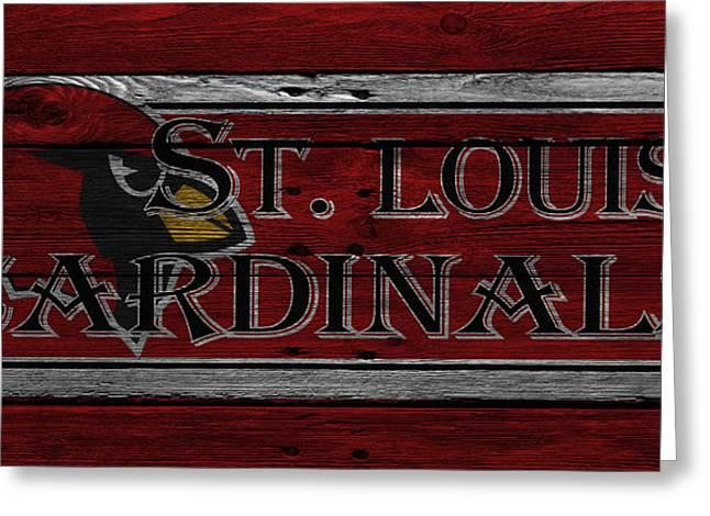 Presents Greeting Cards - St Louis Cardinals Greeting Card by Joe Hamilton