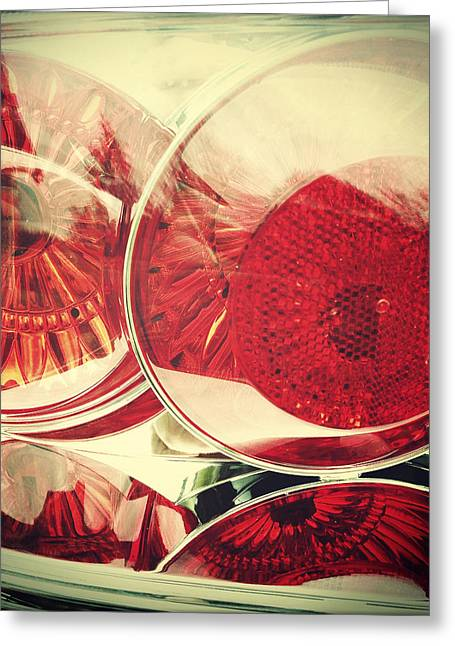Lens Greeting Cards - Tail lights Greeting Card by Les Cunliffe
