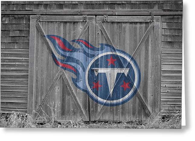 Tennessee Barn Greeting Cards - Tennessee Titans Greeting Card by Joe Hamilton