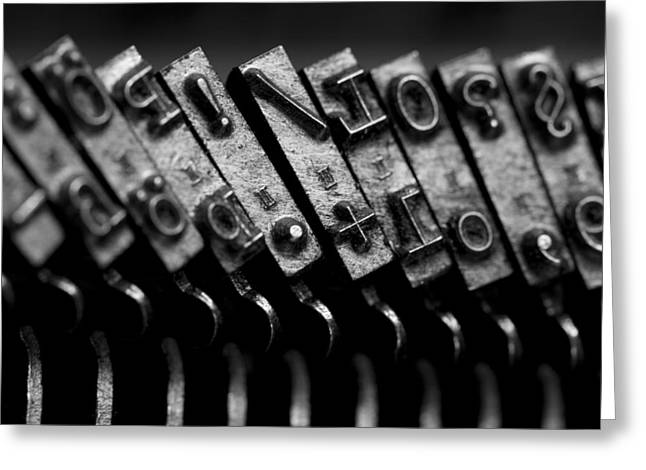 Typewriter Greeting Cards - Typewriter keys Greeting Card by Falko Follert