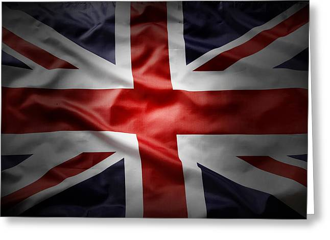 Union Jack  Greeting Card by Les Cunliffe