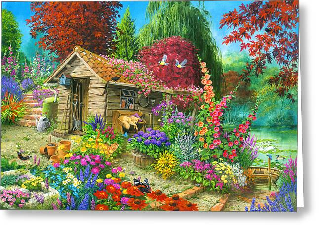 The Garden Shet Greeting Card by John Francis