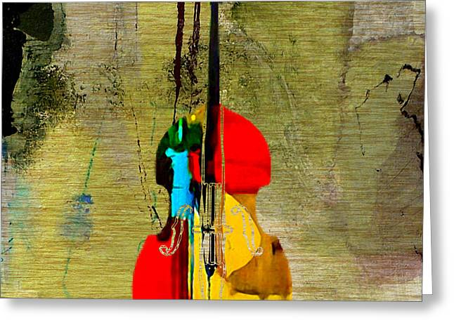 Double Bass Greeting Cards - Upright Bass Greeting Card by Marvin Blaine
