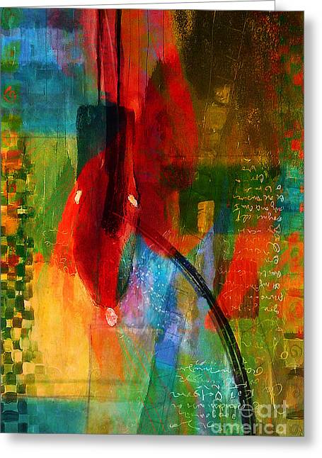 Modern Greeting Cards - Wall Art Greeting Card by Marvin Blaine