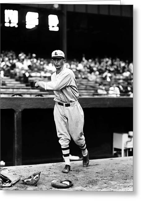 Baseball Stadiums Greeting Cards - Walter C. Lefty Stewart Greeting Card by Retro Images Archive