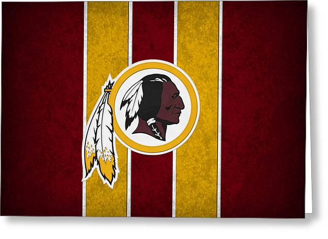 Footballs Greeting Cards - Washington Redskins Greeting Card by Joe Hamilton