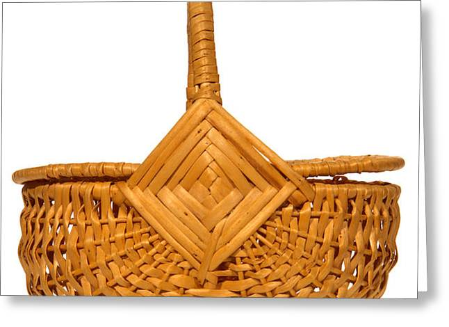 Wicker Basket Greeting Card by Olivier Le Queinec