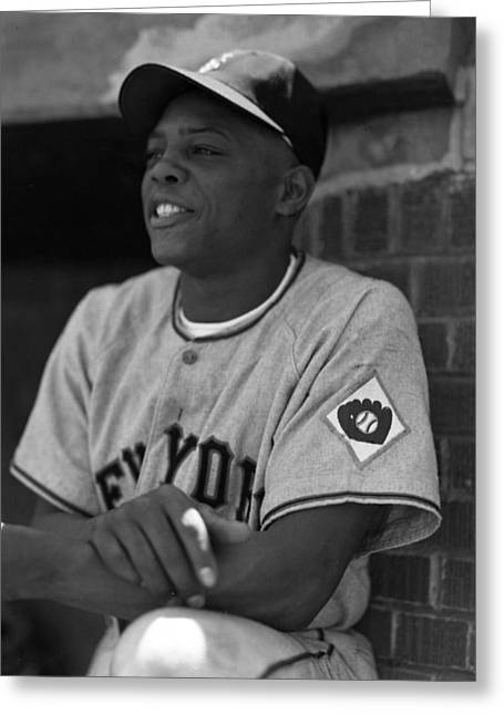 Rookie Of The Year Greeting Cards - Willie Mays Greeting Card by Retro Images Archive