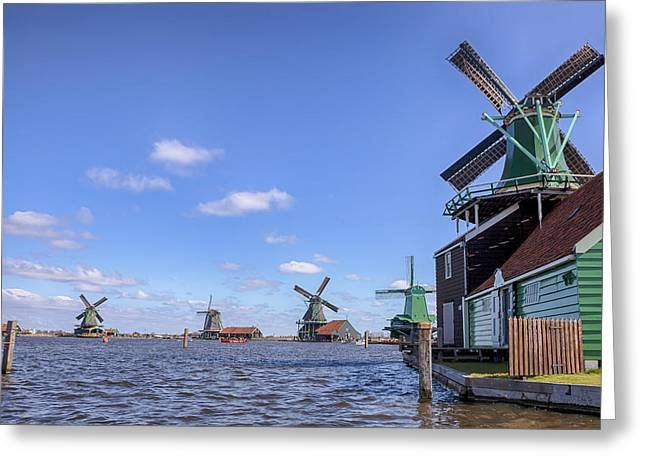 Zaans Greeting Cards - Zaanse Schans Greeting Card by Joana Kruse