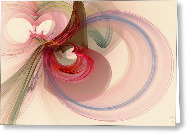 Generative Abstract Greeting Cards - 906 Greeting Card by Lar Matre