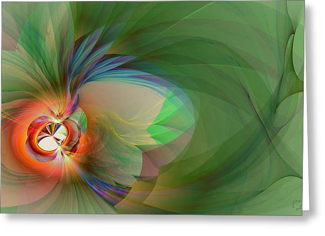 Generative Abstract Greeting Cards - 908 Greeting Card by Lar Matre