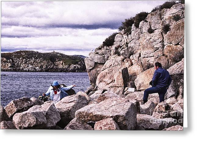 Point Lobos Digital Greeting Cards - 909 sl Rocks  Greeting Card by Chris Berry
