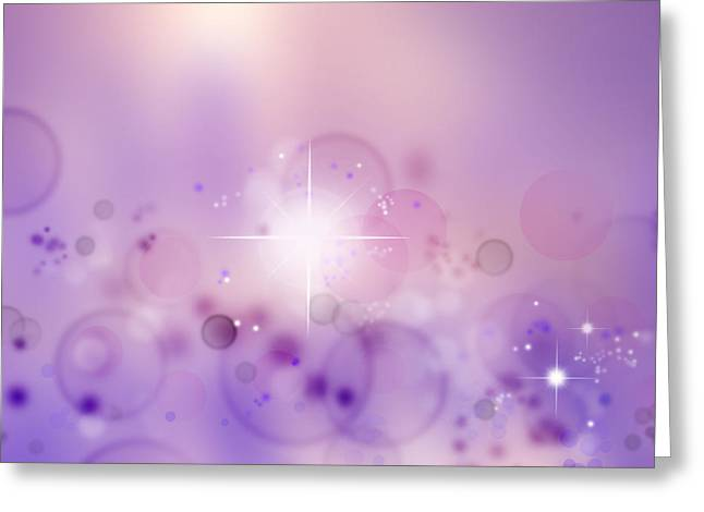 Constellations Digital Art Greeting Cards - Abstract background Greeting Card by Les Cunliffe