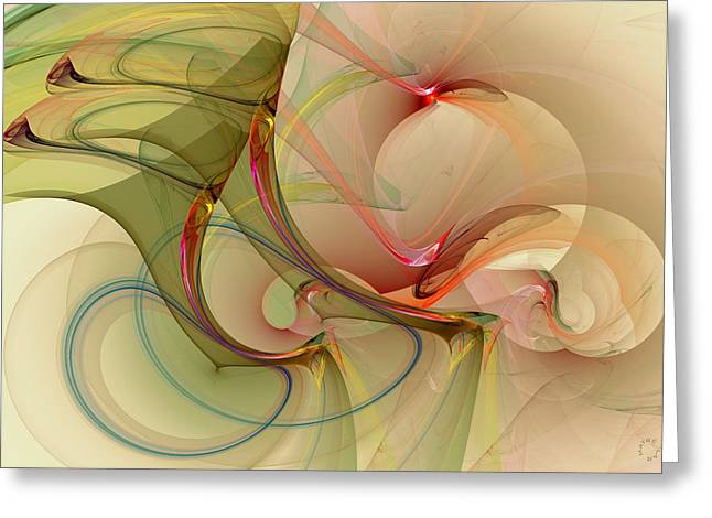 Generative Abstract Greeting Cards - 910 Greeting Card by Lar Matre