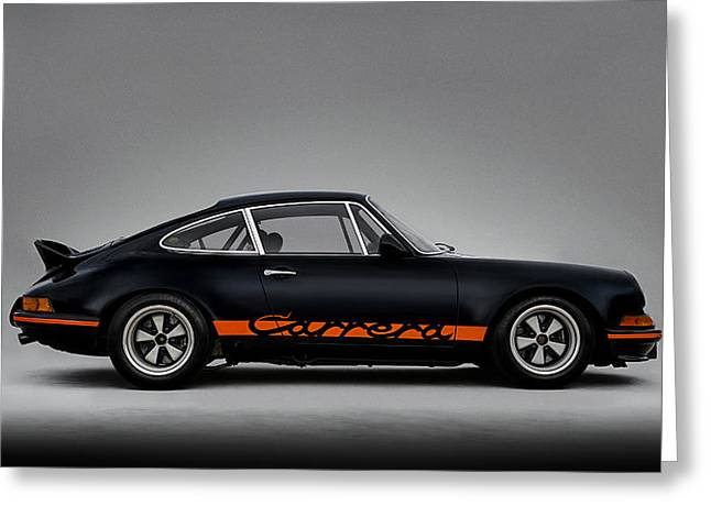 Black Greeting Cards - 911 Carrera RSR Greeting Card by Douglas Pittman