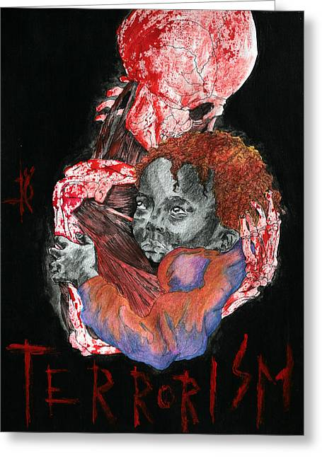 Terrorism Greeting Cards - 911 Greeting Card by Kd Neeley