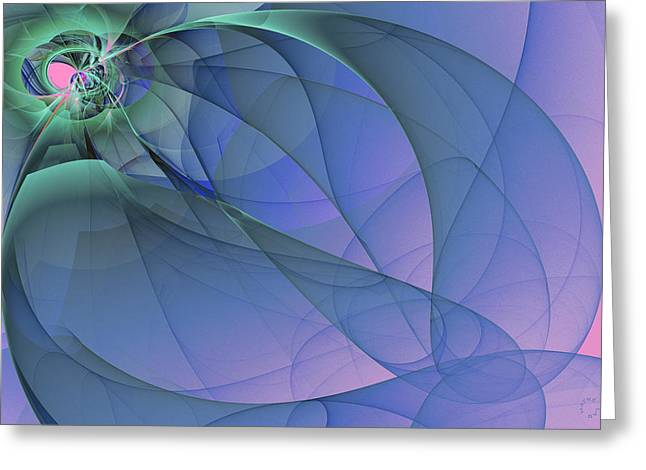 Generative Abstract Greeting Cards - 911 Greeting Card by Lar Matre