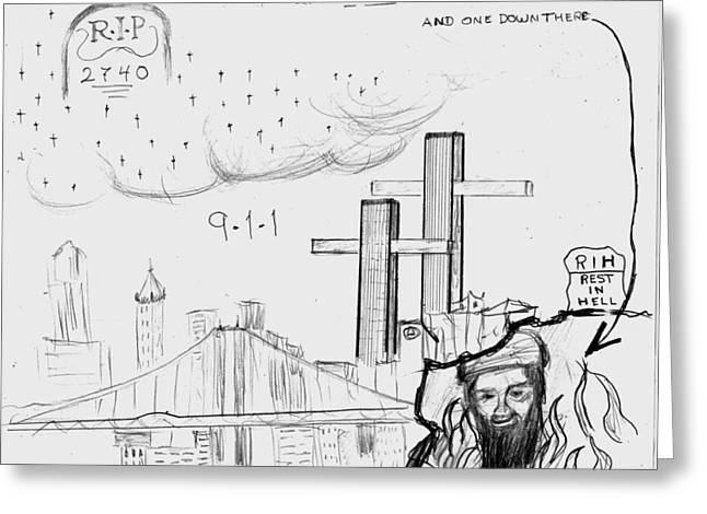 Bin Laden Greeting Cards - 911 New York City Greeting Card by Janos Kurz