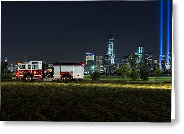 Empire State Photographs Greeting Cards - 911 Greeting Card by Susan Candelario