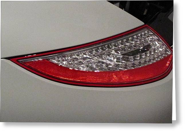 Twinkle Greeting Cards - 911 Taillight Greeting Card by Kelly Mezzapelle