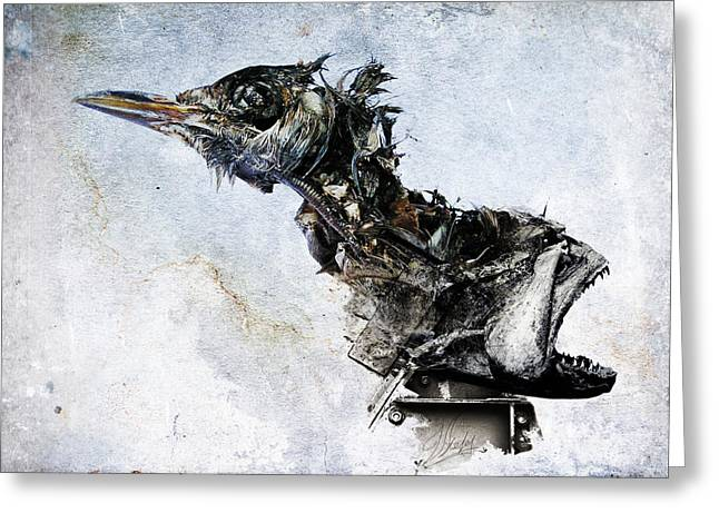 Metal Fish Art Photography Greeting Cards - 911811 Greeting Card by Victor Slepushkin