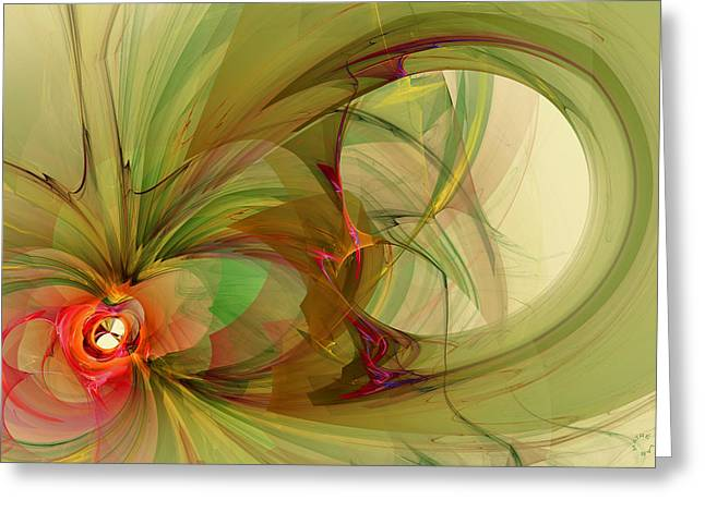 Recently Sold -  - Generative Abstract Greeting Cards - 912 Greeting Card by Lar Matre