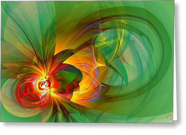 Generative Abstract Greeting Cards - 913 Greeting Card by Lar Matre