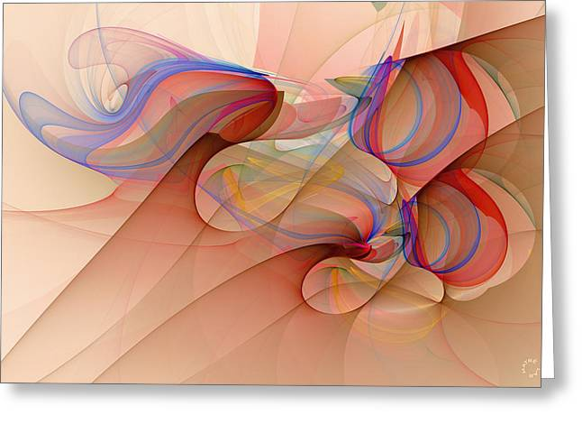 Generative Abstract Greeting Cards - 919 Greeting Card by Lar Matre