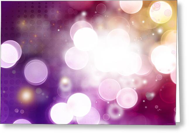 Purples Greeting Cards - Abstract background Greeting Card by Les Cunliffe