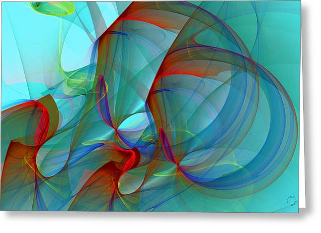 Generative Art Greeting Cards - 926 Greeting Card by Lar Matre
