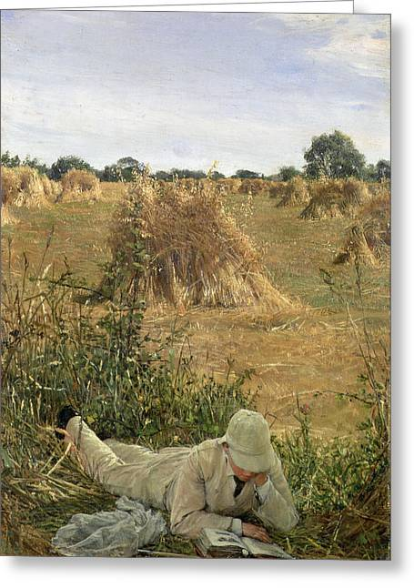 Lecturing Greeting Cards - 94 Degrees In The Shade, 1876 Greeting Card by Sir Lawrence Alma-Tadema